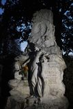 Johann Strauss, II sepulcro 1825-1899 en el cementerio central de Viena fotos de archivo libres de regalías
