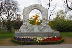 Johann Strauss Memorial - Wenen Stock Fotografie