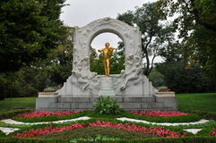 Johann Strauss Monument, Βιέννη, Αυστρία στοκ εικόνες