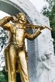 Johann Strauss Monument Lizenzfreies Stockfoto