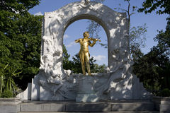 Johann Strauss monument in Vienna Stock Images