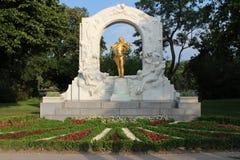Johann Strauss-monument - Wenen - Oostenrijk Royalty-vrije Stock Afbeeldingen