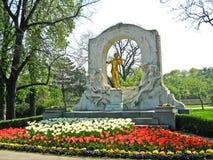 Johann Strauss Monument, Wenen, Oostenrijk royalty-vrije stock foto