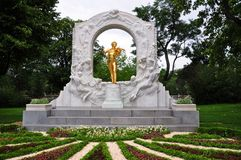 Johann strauss statua Fotografia Royalty Free