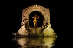 Johann Strauss Statue. Attractive water effect under the Johann Strauss Statue in Vienna, Austria Stock Images
