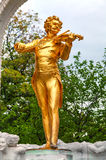 Johann Strauss statue at Stadtpark in Vienna Stock Photo