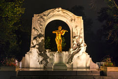 Johann Strauss statue at Stadtpark in Vienna Stock Photos