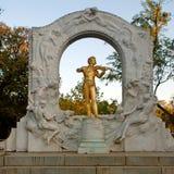 Johann Strauss Statue in StadtPark in Wenen, Oostenrijk Stock Afbeelding