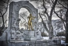 Johann Strauss Statue in Wenen royalty-vrije stock afbeeldingen