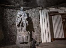 Johann Wolfgang von Goethe salt statue in Wieliczka Salt Mine Royalty Free Stock Photo