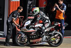 Johann zarco in the circuit of Catalonia Royalty Free Stock Photos