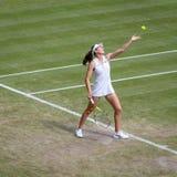 Johanna Konta at Wimbledon stock image