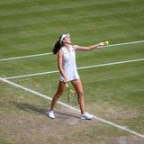 Johanna Konta at Wimbledon royalty free stock image