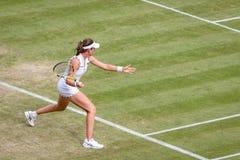 Johanna Konta at Wimbledon stock photo