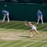 Johanna Konta at Wimbledon royalty free stock photo