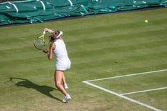 Johanna Konta at Wimbledon royalty free stock images