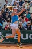 Johanna Larsson στην τρίτη στρογγυλή αντιστοιχία, Roland Garros 2014 Στοκ φωτογραφίες με δικαίωμα ελεύθερης χρήσης