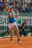 Johanna Larsson i den tredje runda matchen, Roland Garros 2014 Royaltyfri Bild