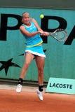 Johanna Larsson (SWE) chez Roland Garros Images libres de droits