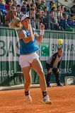 Johanna Larsson in third round match, Roland Garros 2014. Paris, France - May 30, 2014: Johanna Larsson of Sweden during the 3rd round match at French Open Royalty Free Stock Image