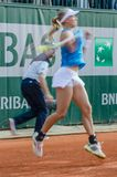 Johanna Larsson in third round match, Roland Garros 2014 Royalty Free Stock Photography