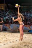 Johannah Rohkamper portion i finalerna av utmaningen för Ljubljana strandsalva Royaltyfria Bilder