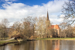 Johannapark Lutherkirche Leipzig Stock Photos