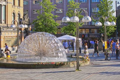 Johanne Dybwads plass in Oslo, Norway Stock Photo
