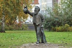 Johannes Brahms staty i Lubeck, Tyskland arkivfoton