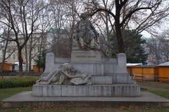 Johannes Brahms staty Wien Österrike royaltyfria bilder