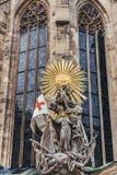 Johannes Capistrano Exterior Pulpit a Stephansdom immagini stock