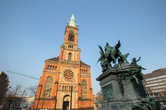 Johannes church duesseldorf germany Royalty Free Stock Images