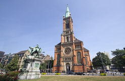 Johannes Church in Dusseldorf Royalty Free Stock Photography