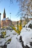 Johannes Church in Dusseldorf Royalty Free Stock Photos
