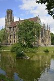 Johannes church and Feuersee, Stuttgart Royalty Free Stock Images