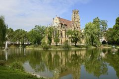 Johannes church at Feuersee , Stuttgart Stock Photography