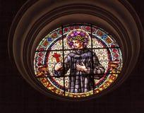 Johannes der Gott-Buntglas-Basilika-Kathedrale Andalusien Gra Stockbilder
