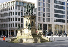 Johannes Gutenberg monument Frankfurt Royalty Free Stock Photography