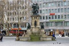 Johannes Gutenberg Monument Frankfurt Stock Images