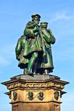 Johannes Gutenberg Monument in Frankfurt am Main Stock Photos