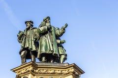 Johannes Gutenberg monument on the southern Rossmarkt Stock Images