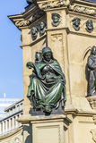 Johannes Gutenberg monument on the southern Rossmarkt Royalty Free Stock Images