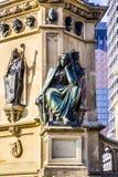 The Johannes Gutenberg monument on the southern Rossmarkt in Fra Stock Photos