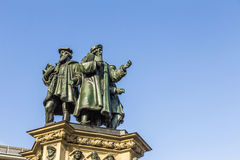 The Johannes Gutenberg monument on the southern Rossmarkt in Fra Royalty Free Stock Image