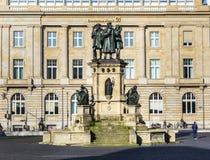 Johannes Gutenberg monument on the southern Rossmarkt Stock Photo