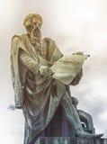 Johannes Gutenberg staty, Strasbourg, Frankrike arkivbild