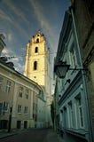 Johannes Kirche, Vilnius, früher Abend Lizenzfreie Stockfotos