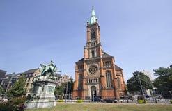 Johannes kościół w Dusseldorf fotografia royalty free