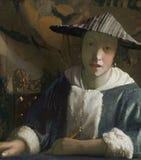 Johannes Vermeer Johannes Vermeer Girl con Red Hat c 16651666 pintando Imágenes de archivo libres de regalías