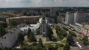 Johannes von Dukla Roman Catholic Church in Ukraine, ZHYTOMYR stock footage